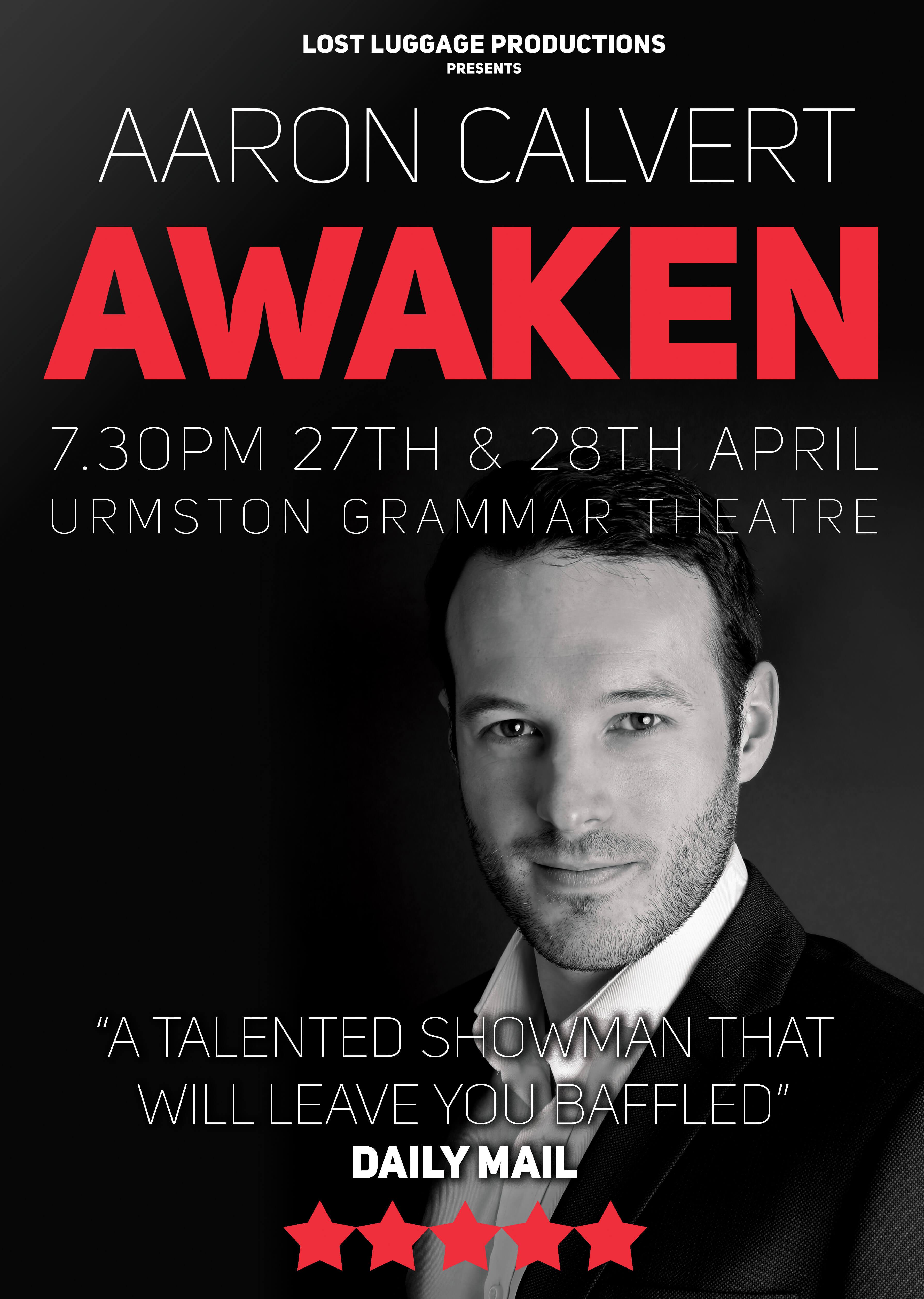 Aaron Calvert Awaken Manchester Preview