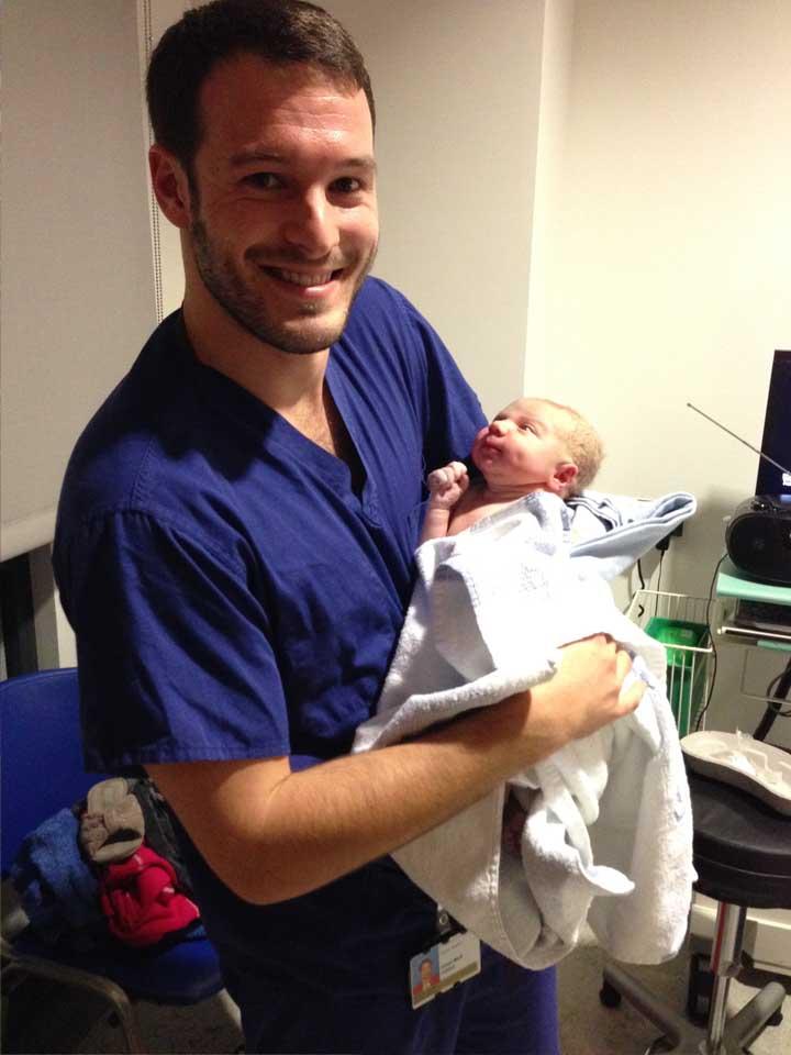 Aaron Calvert baby delivery