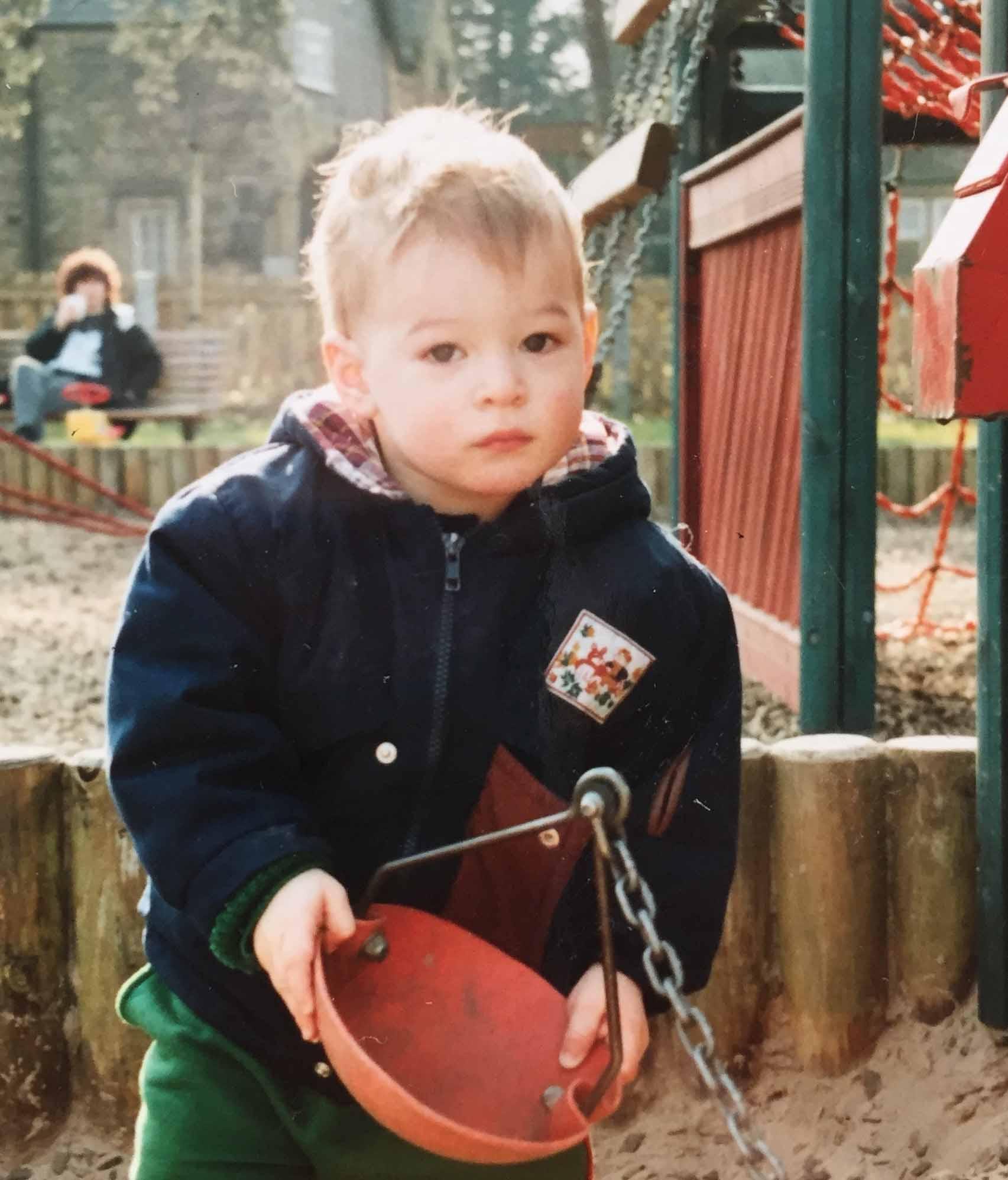 Aaron Calvert at 4 years old