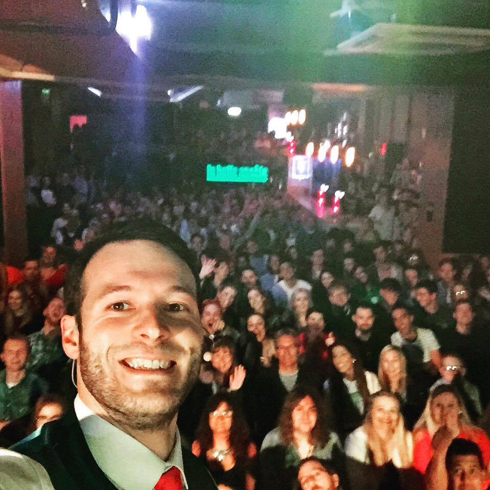 corporate entertainment selfie in edinburgh