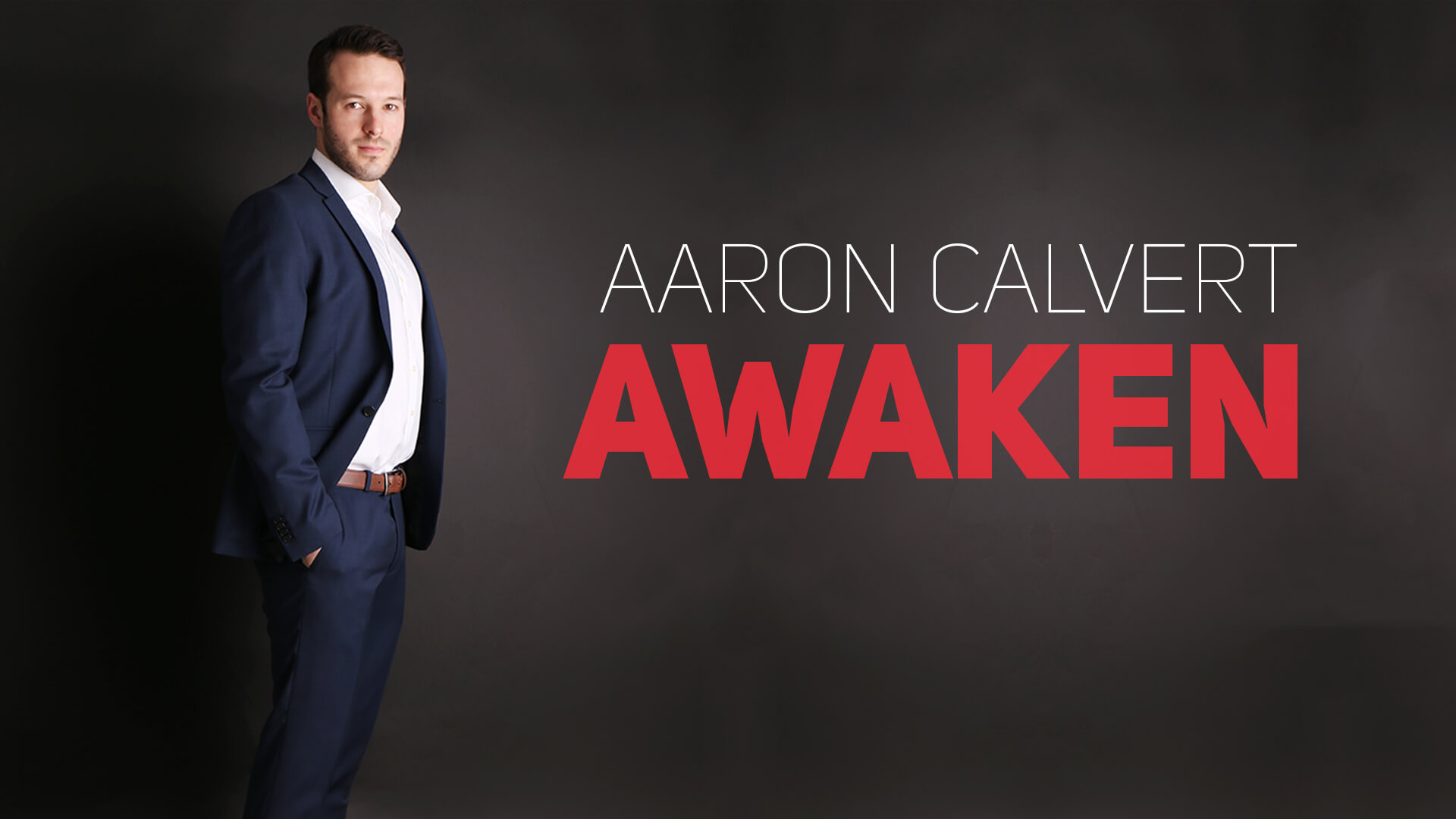 Aaron Calvert poses for camera with Edinburgh Fringe Awaken Preview show