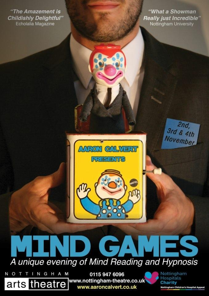 AARON CALVERT MIND GAMES 12 POSTER ON STAGE