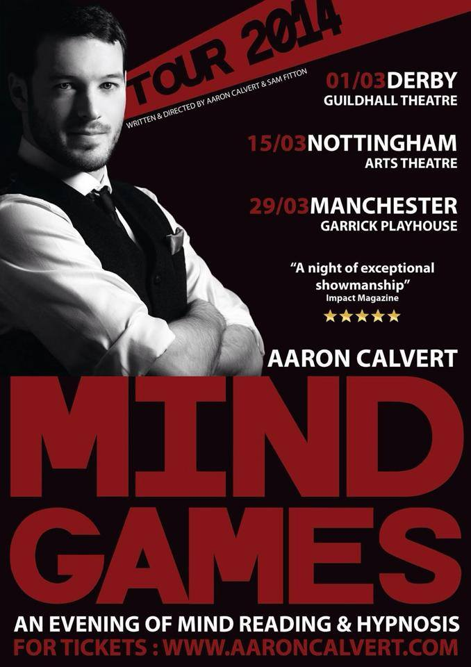 AARON CALVERT MIND GAMES 14 POSTER ON STAGE
