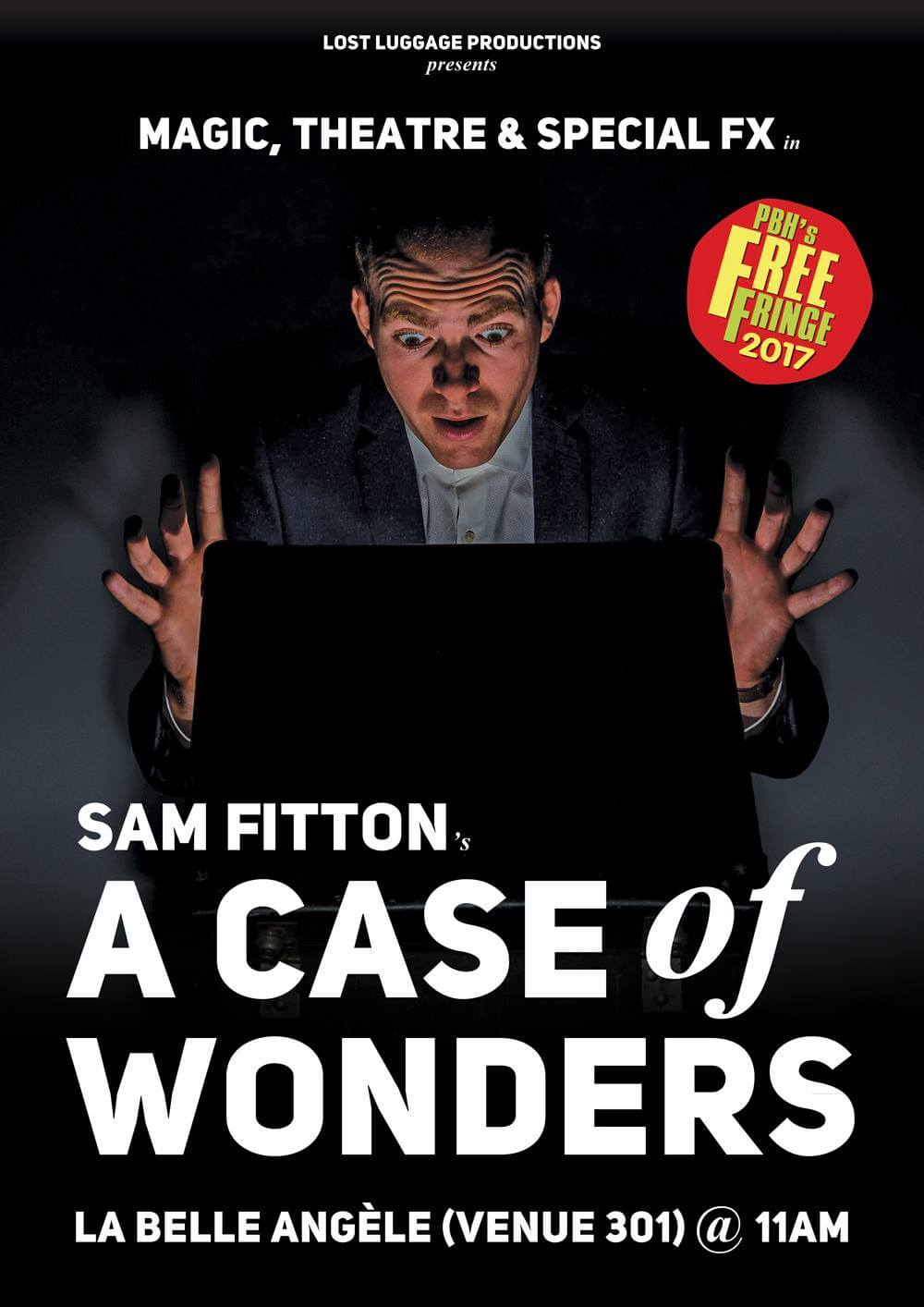 Sam Fitton A Case of Wonders Edinburgh Fringe magic poster
