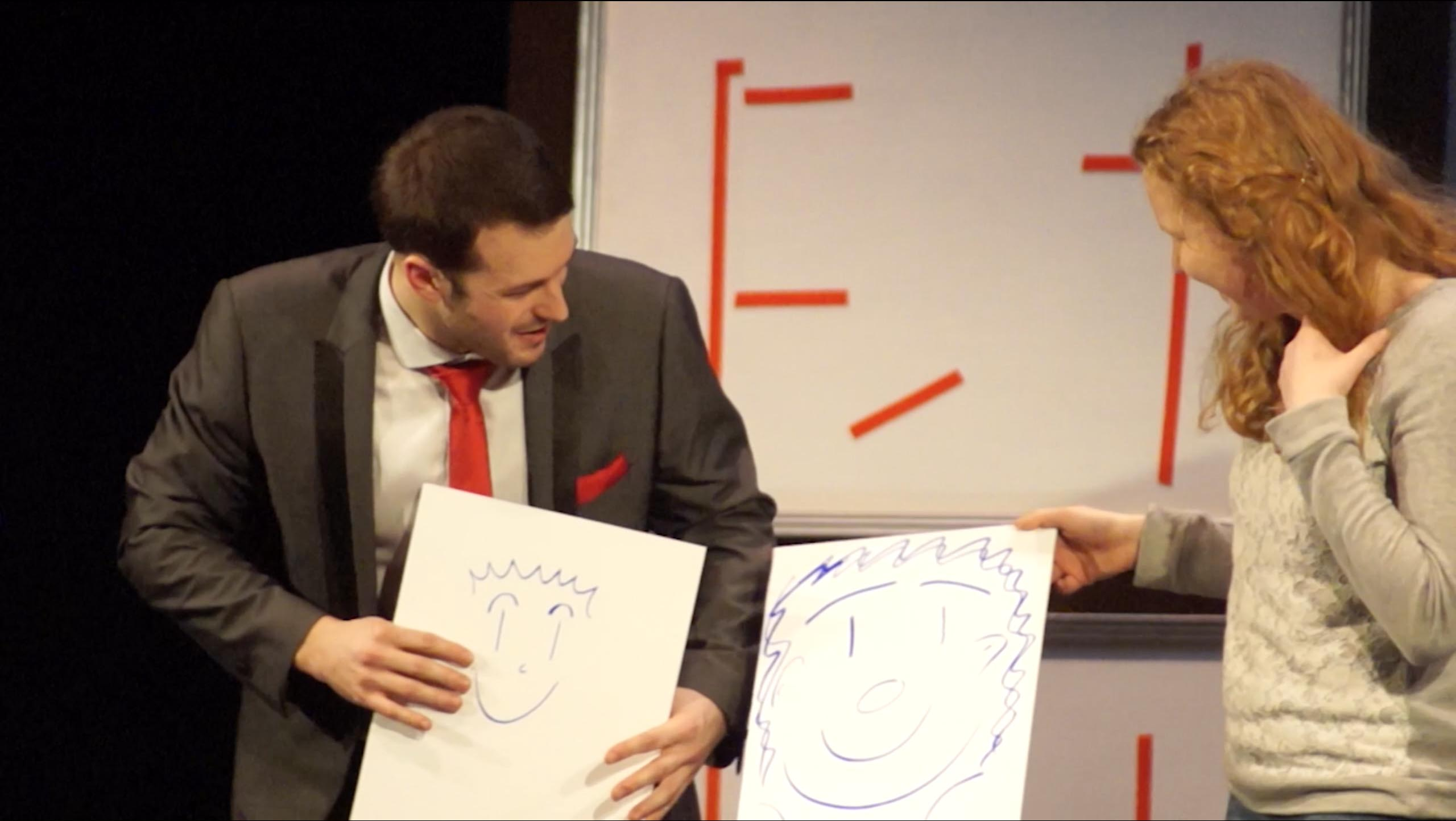 Mind Games theatre show comparing pictures
