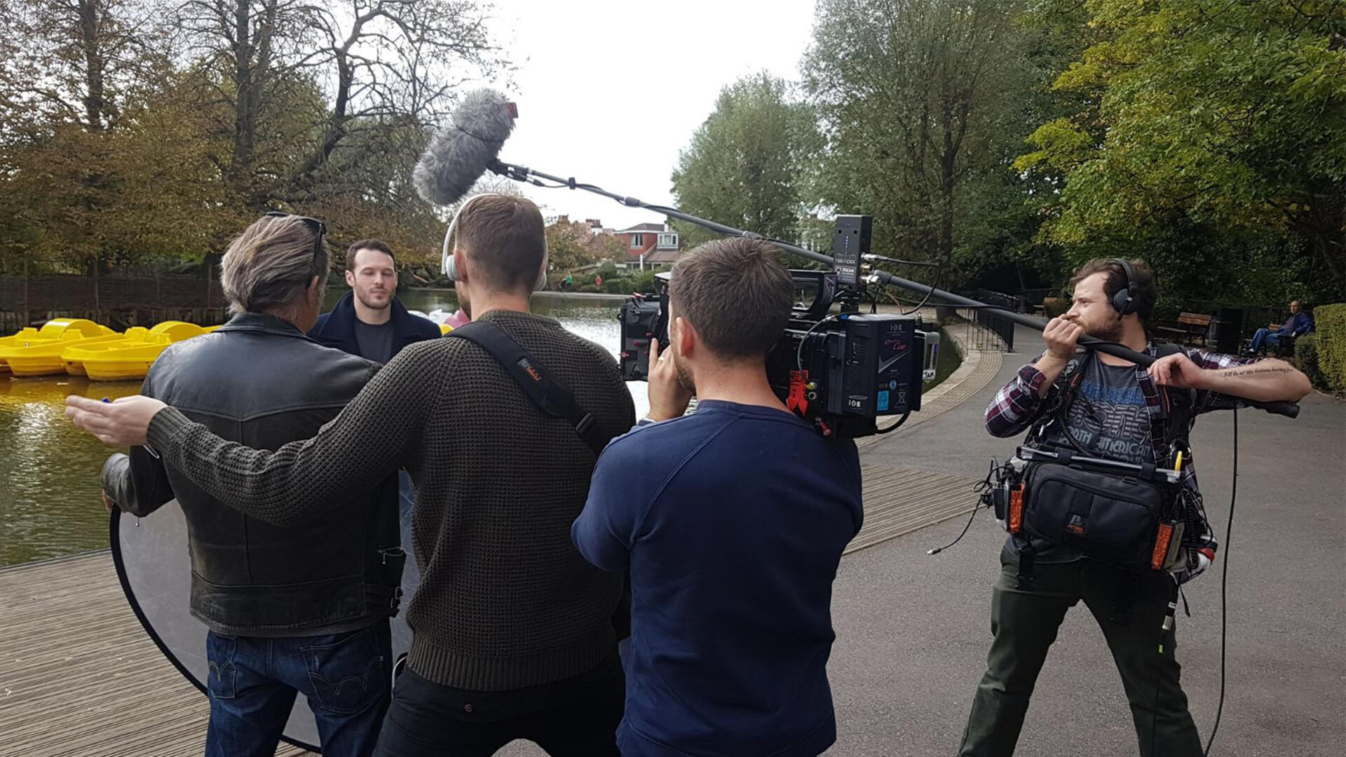 aaron calvert e4 big group interview at a boating lake about edinburgh fringe magic show declassified